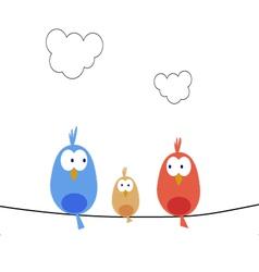 New bird family vector image
