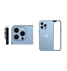 Newly released iphone 13 pro in sierra blue color vector