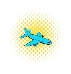 Passenger airplane icon comics style vector image