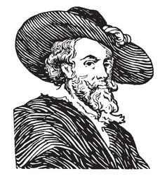 Peter-paul rubens vintage vector