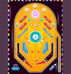 Pin ball machine vector