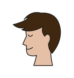 Profile head man smile people image vector