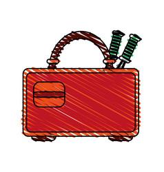 Racket case design vector