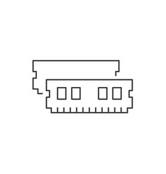ram memory linear icon on white background vector image