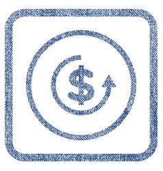 refund fabric textured icon vector image