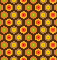 Seamless retro honeycomb pattern vector image