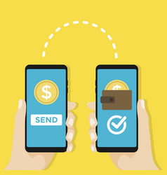 Sending and receiving money send money wireless vector