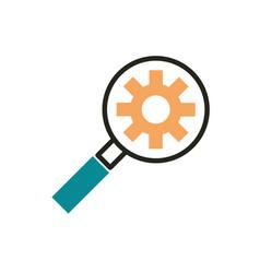 seo setting web development icon line and fill vector image