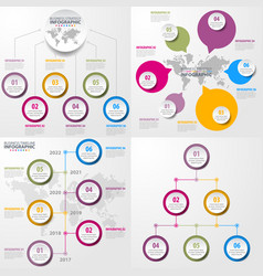 set of business timeline infographics and design vector image