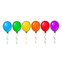 Set of colorful balloons isolated on white vector image