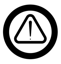 Sign of attention the black color icon in circle vector