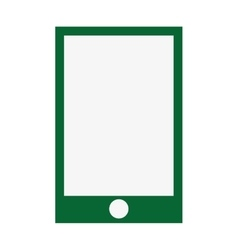 smartphone green screen flat icon vector image