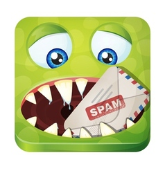 Spam eater vector image