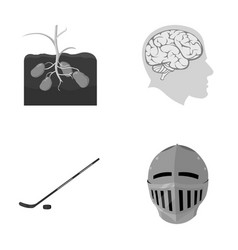 Sport nature history and other monochrome icon vector