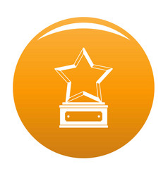 star award icon orange vector image