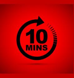 Ten minutes icon vector