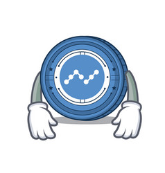 Tired nano coin mascot cartoon vector