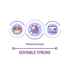 training session concept icon vector image