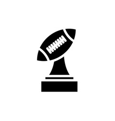 Trophy american football icon simple design vector