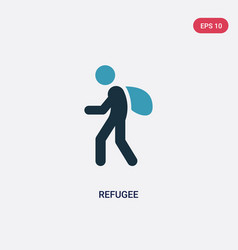 Two color refugee icon from miscellaneous concept vector