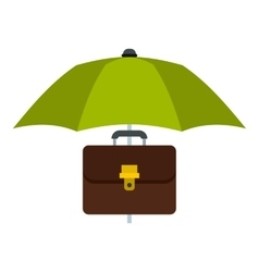 Umbrella and diplomat icon flat style vector