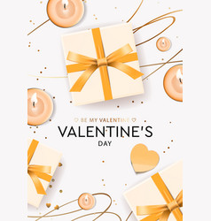 valentines day design gifts boxes candles vector image