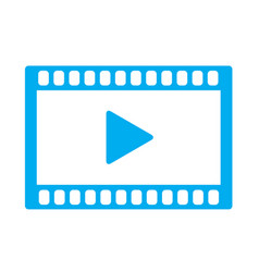 Video icon on white background video icon sign vector