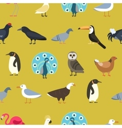 Vintage summer birds background vector image