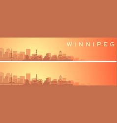 Winnipeg beautiful skyline scenery banner vector