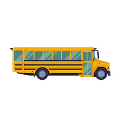 yellow school bus back to school concept vector image
