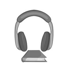 Audio book icon black monochrome style vector image vector image