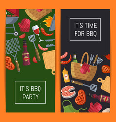 barbecue or grill elements banner templates vector image vector image