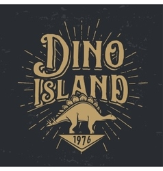 dino island logo concept Stegosaurus vector image vector image