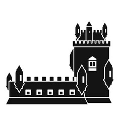 history castle icon simple style vector image