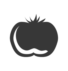 silhouette vegetable tomato graphic icon vector image