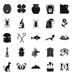 bug icons set simple style vector image vector image