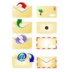 email and arrow vector image