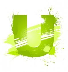 font letter u vector image vector image