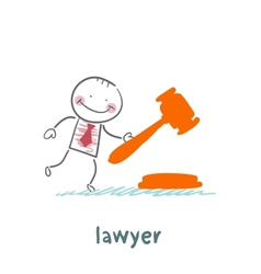 lawyer knocking hammer vector image vector image