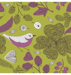 nature bird print vector image vector image