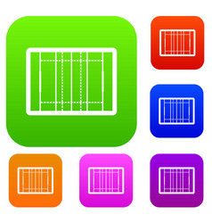 rugby field set collection vector image