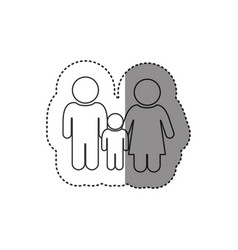 sticker of monochrome contour of pictogram with vector image vector image