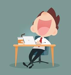 Businessman Working vector image vector image