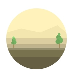 Mexican desert background vector image