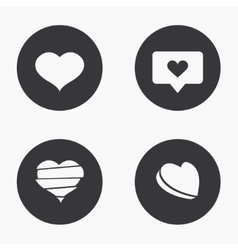 modern heart icons set vector image vector image