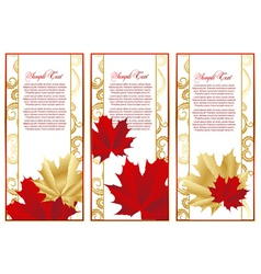 abstract set frame with leaves vector image