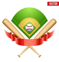 baseball leather ball and vector image vector image