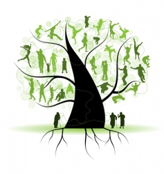 family tree relatives people silhouettes vector image vector image