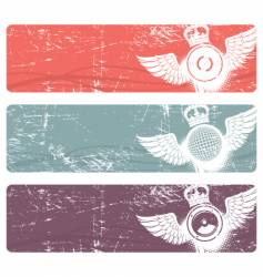 musical banners vector image vector image