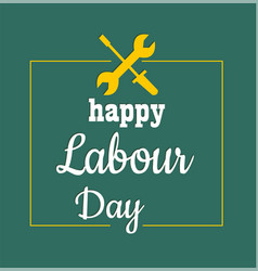 1 may - labour day logo concept with wrenches i vector image